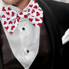 Red Heart Bow Tie Romance Accessory bowtie Tux Suit Prom Groom Valentine