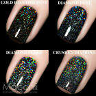 F.U.N Lacquer - Holo Toppers - Holographic Silver Gold Top Coat Nail Polish