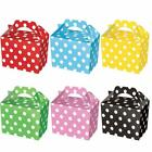 NEW 10 PACK PARTY FOOD GIFT BOXES POLKA DOT CARDBOARD LUNCH LOOT TREAT BOX