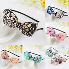 Fabric Ladies Hair Band Headband Bow Knot Floral Flowers