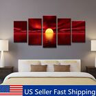 Framed Sunrise Red Landscape Canvas Prints Oil Painting Pictures Wall Art Decor