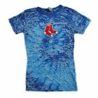 Boston Red Sox Spiral Burnout Junior Ladies T-shirt