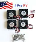 4 Pcs 5V 12V 24V 40mm Cooling Computer Fan 4010 40x40x10mm DC 3D Printer 2-Pin
