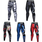 Mens Workout Athletic Compression Long Pants Gym Jogging Running Cycling Tights