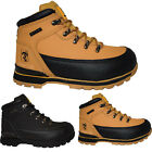 MENS LEATHER LIGHTWEIGHT STEEL TOE CAP SAFTEY BOOTS ANKLE WORK SHOES TRAINERS SZ