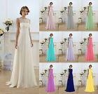 lace Bridesmaid Dress Long Formal Evening Ball Gown Party Prom Stock Size 6-20+