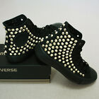 Genuine CONVERSE All-star with gold studs Sneakers Sheos Monochrome-Black(Gold)