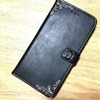 Moon Cat Handmade Leather Wallet Stand Case Cover For Samsung Galaxy Cell Phone