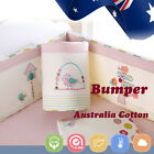 Baby Cot Crib Bedding Bumper Kid Toddler Newborn Gift 100% Pure Cotton Soft Pink