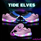 Child LED Switchable Light Roller Skating Sneakers Wheel Roller Shoes Bow Gift