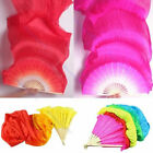 4 Colors Colorful Hand Made Belly Dance Dancing Silk Bamboo Long Fans Veils