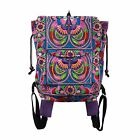 Handmade Fair Trade Backpack with Hmong Hill Tribe Embroidered Fabric