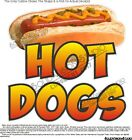 Hot Dogs Food Truck Concession Cart Warmer Window Vinyl Sign Decal (Choose Size)