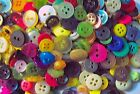 """LOT OF 200, 300, 400, 500 Assorted Mix Colored Buttons 1/2"""" and Smaller"""