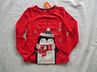 NWT GYMBOREE HOLIDAY SHOP PENGUIN RED SPARKLE FAIR ISLE CHRISTMAS XMAS TOP SHIRT