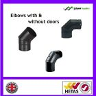"""5"""" & 6 inch flue pipe elbow for wood burning stoves"""