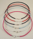 Suede Lightweight Surfer Choker Necklace 3mm With Silver Lobster Clasp- Unisex