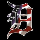 "2.5"" or 6"" Detroit Tigers D American Flag Baseball Car Window Wall Decal Sticker"