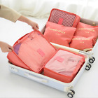 6PCS Travel Clothes Storage Bags Packing Cube Pouch Suitcase Luggage Organizer