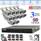 16CH Hikvision 1080P CCTV DVR 2.4MP Camera Night Vision Home Security System Kit