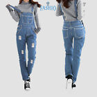SkylineWears Women's Denim Bib Overall Long Dungarees Jeans Jumpsuits