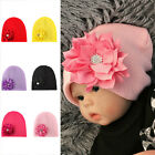 Cute Girls Infant Flower Soft Cotton Hospital Beanie Cap Baby Newborn Baby Hat