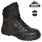 Kyпить MENS LEATHER SAFETY STEEL TOE CAP SIDE ZIP ARMY MILITARY POLICE WORK BOOTS SHOES на еВаy.соm
