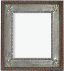"6.5"" Silver Ornate Wood Photo Family Oil Painting Picture Frame 734SB"