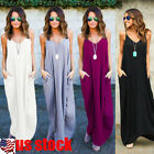 Women's Summer Boho Casual Long Maxi Evening Party Cocktail