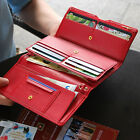 Wide Pass Clutch - PLEPIC - Womens Faux Leather Trifold Long Clutch Wallet
