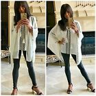 Hot and Delicious GYPSY VIBES Lace Up Long Sleeve Embroidered Kaftan Poncho Top