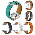 Single Tour Cuff Genuine Leather Watch Bands Wrist Strap For Apple watch 38 42mm