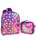 "Hello Kitty ""glitter Party"" Backpack With Lunchbox"