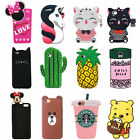3D Cartoon Animals Gel Soft Silicone Rubber Case Cover Skin For Samsung iPhone