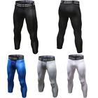 Mens Workout Compression Capri Cropped Tights Athletic Gym Fitness Running Pants