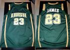 LeBron James 23# St Mary High School Irish Throwback Swingman Jersey Green S-2XL