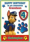 Personalised and Cute Paw Patrol Inspired Birthday Card (6 Designs) - Gorgeous !