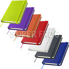 A5 PU Leather Hard Cover Lined Notebook Notepad Writing Pad Ruled Hardback Note