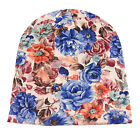 Pop Fashionwear Soft Jersey Multicolored Floral Beanie 403HB