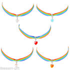 Fashion Women Colorful Choker Necklace With Stainless Steel Pendant GIFT