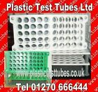 Test tube rack / tray. Holds 50x16mm Ø tube Alpha Numeric marked, Reusable NEW
