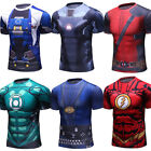 Mens Superman 3D Printed T Shirts Workout Compression Tops Spandex Cosplay Tees