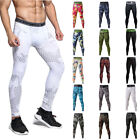 Men Workout Long Pants Gym Tights Base Layer Skin Compression Bottoms Camouflage