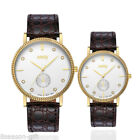 NARY Authentic Brand Watches Leather Strap Unisex Couples Quartz Watches GIFT