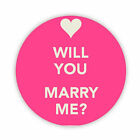 Will you Marry Me? (Pink) Button Badge 38,45 & 58mm Pin Lapel Marriage proposal