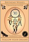 Personalised `Ancient Dreamcatcher` Birthday Card - Stunning !