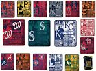 "MLB Fleece Throw Blanket 50x60"" Strength Style - Assorted Teams"