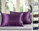 Sheets Pillowcases - SET OF 2 NEW ULTRA SOFT CHARMEUSE SILKY SATIN KING SIZE PILLOWCASES