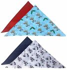 2 Pack 100% Cotton Novelty Xmas Patterned Accessories Christmas Handkerchiefs