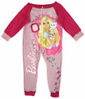 Girls Barbie Dream with Style Fleece Sleepsuit All in One Romper 2 to 8 Years